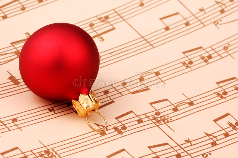 Chant de noël image stock