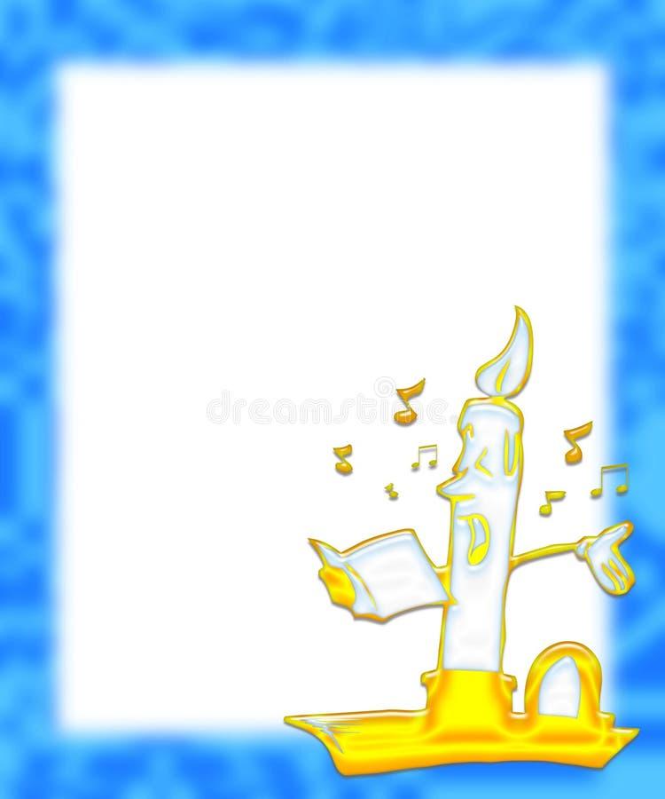 chant de vacances de 2 bougies illustration libre de droits