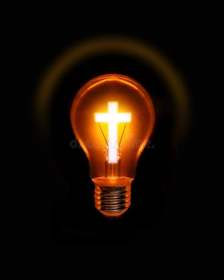 Chant religieux chrétien en travers d'ampoule images libres de droits