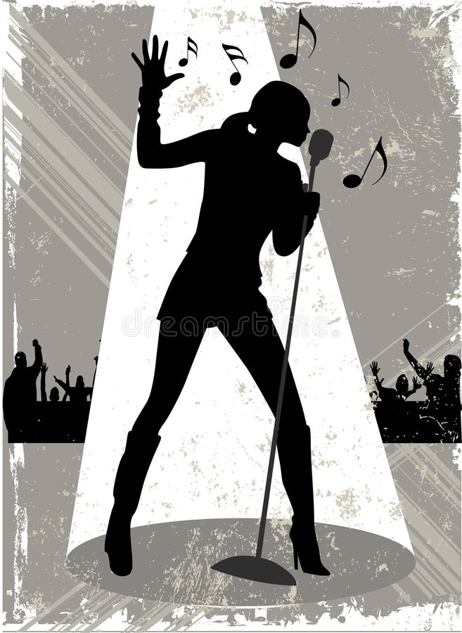 Chanteur   illustration libre de droits