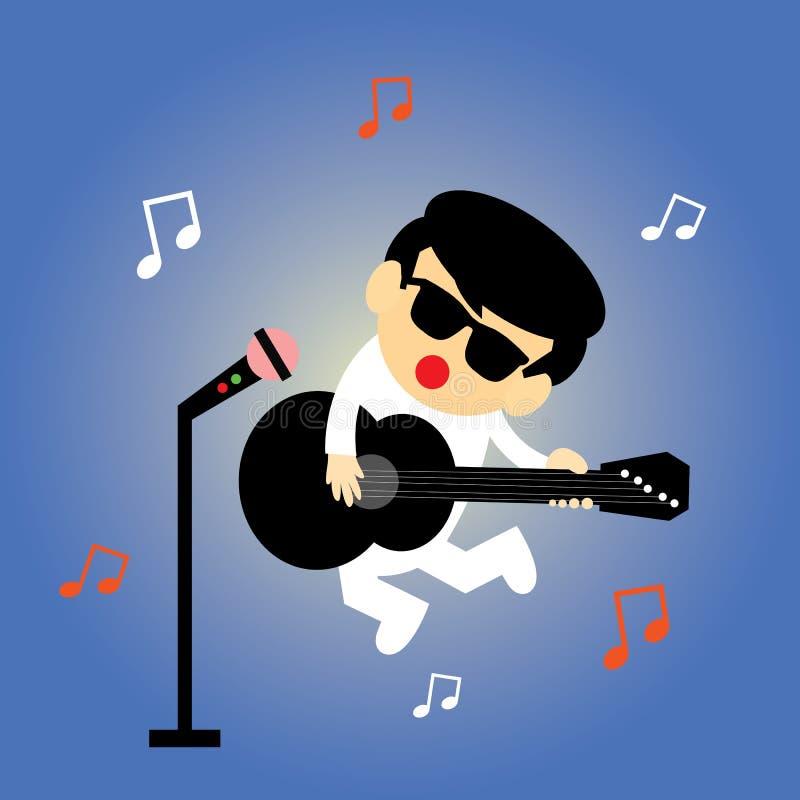 Chanteur  illustration libre de droits