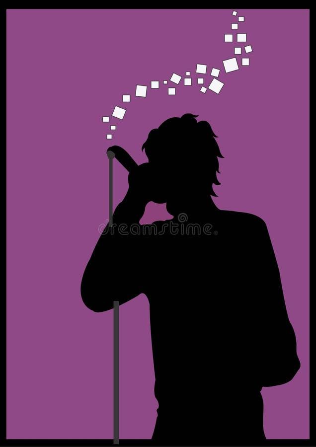 Chanteur illustration stock