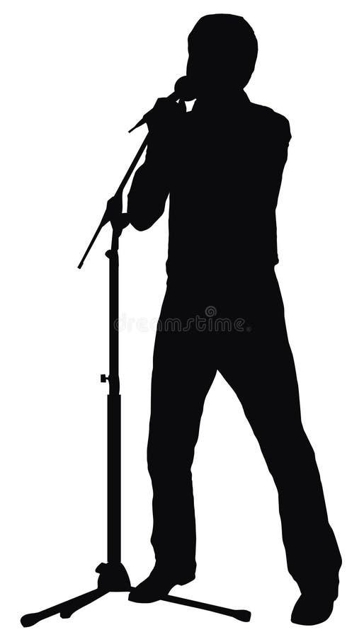 Chanteur illustration de vecteur