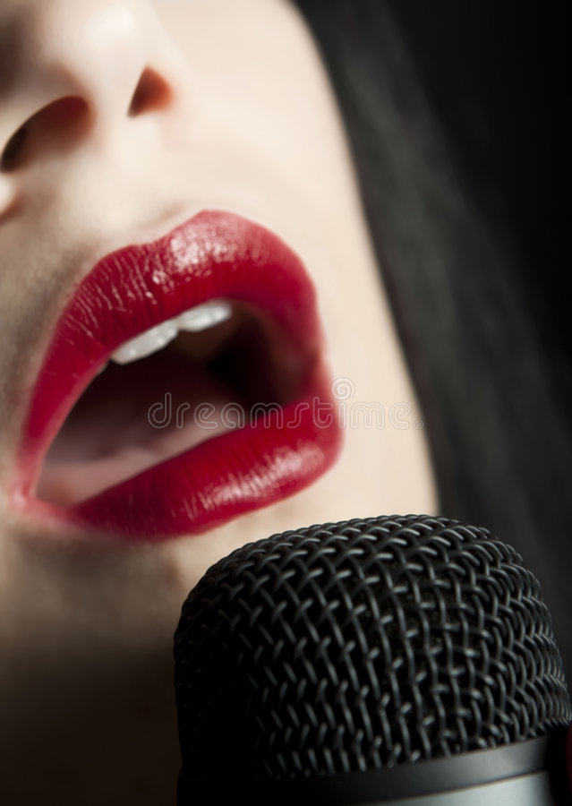 Chanteur images stock