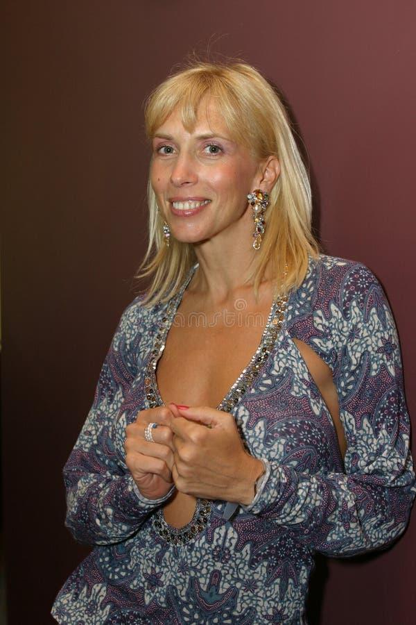 Chanteur Alena Sviridova photographie stock