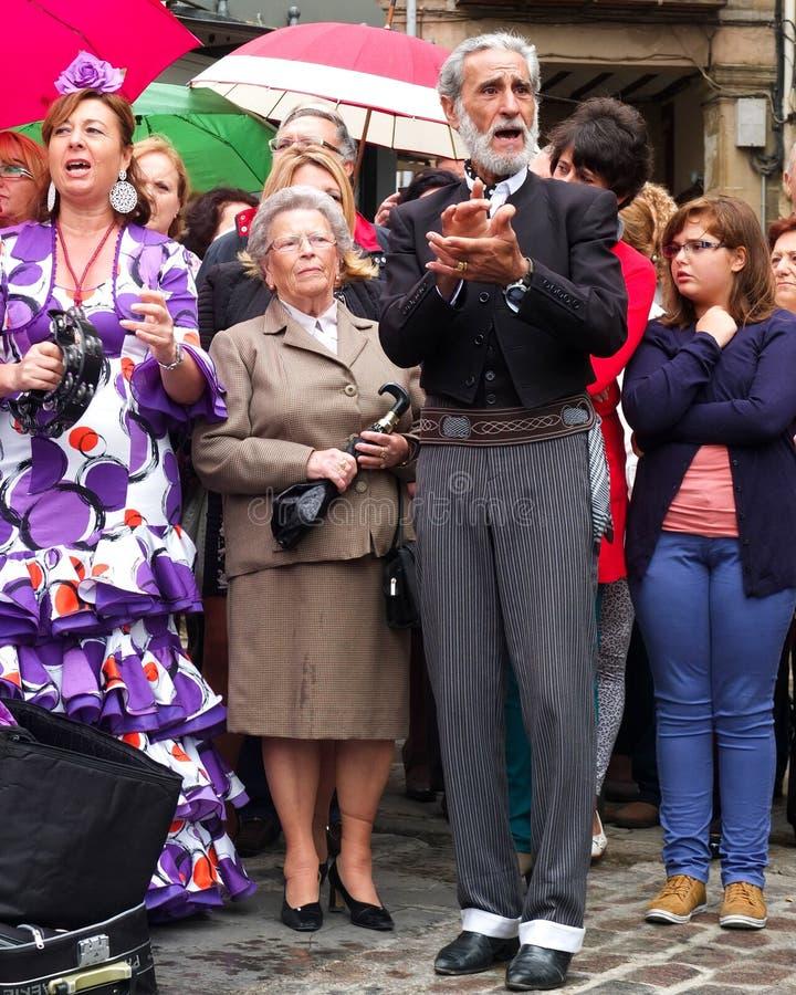 Chanteur andalou. images libres de droits