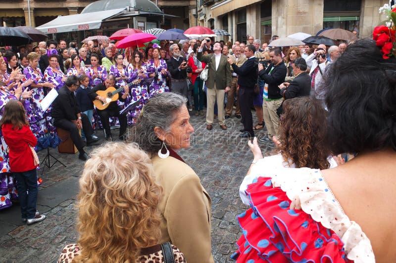 Chanteur andalou. photos stock