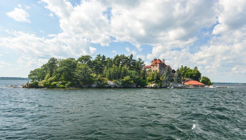 Chanteur Castle, île foncée, New York photos stock