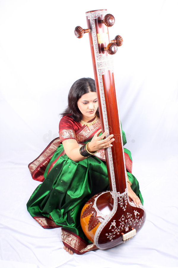 Chanteur classique indien photographie stock