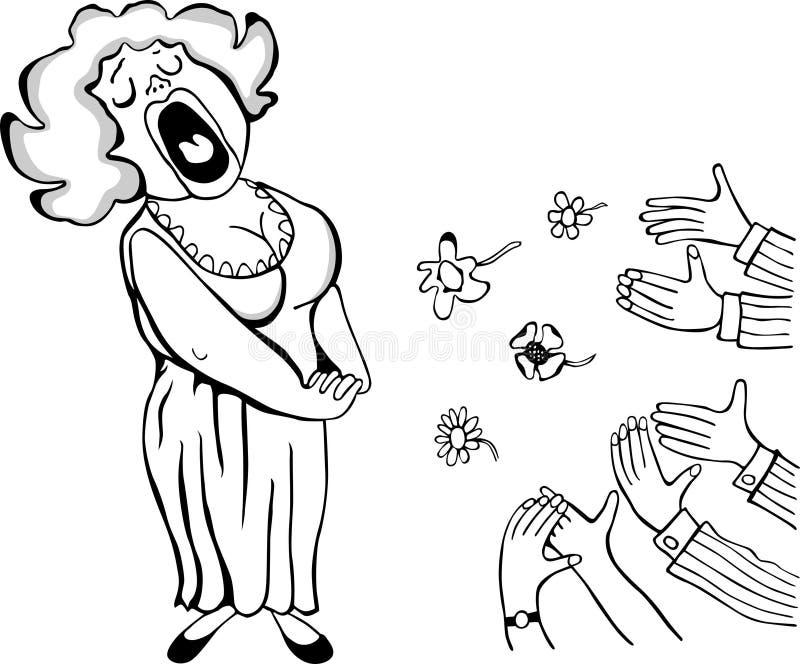 Chanteur d'opéra illustration de vecteur