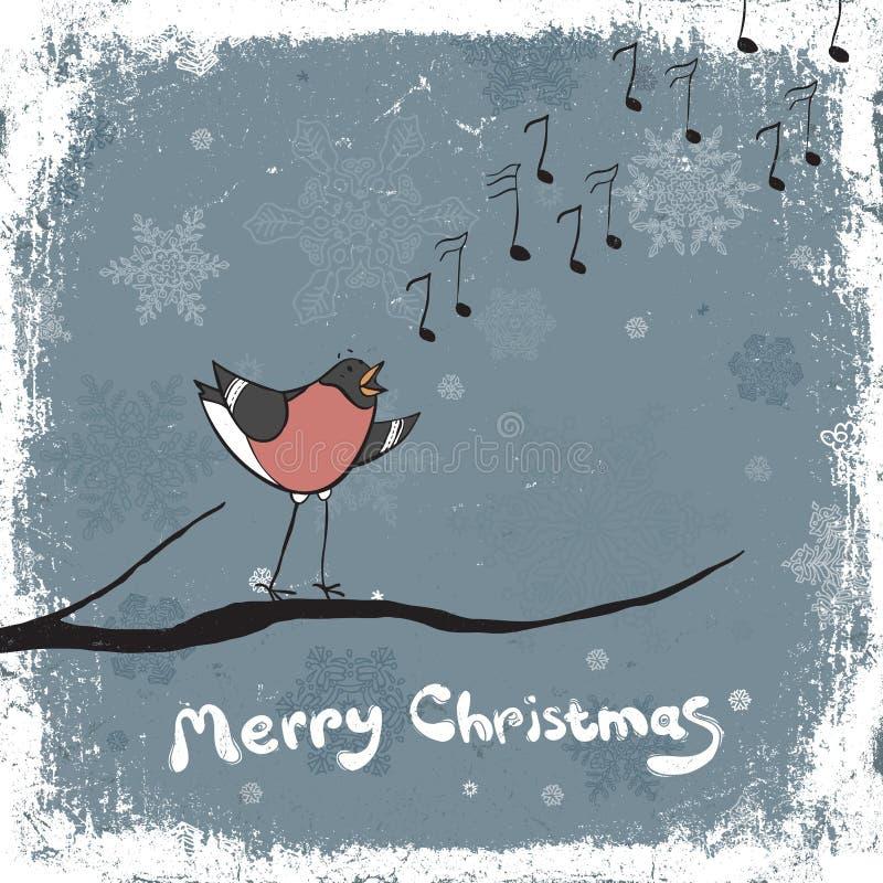 Chanteur de Bullfinch. illustration stock