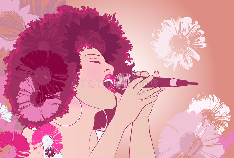 Chanteur de jazz illustration libre de droits