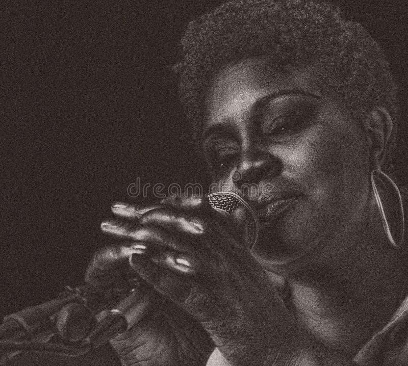 Chanteur de jazz photos stock