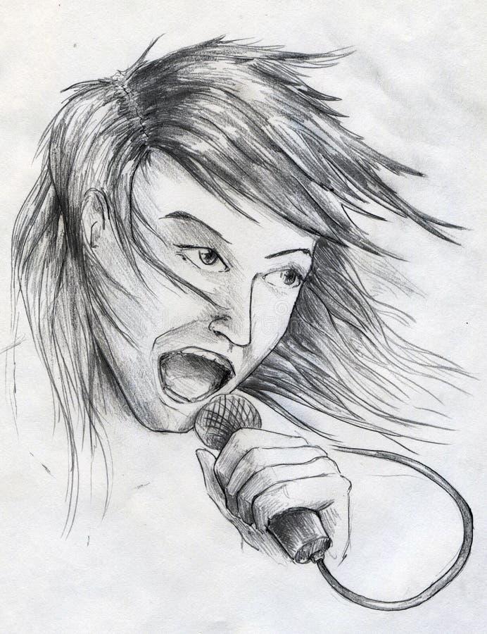 Chanteur De Vedette Du Rock Photographie stock libre de droits