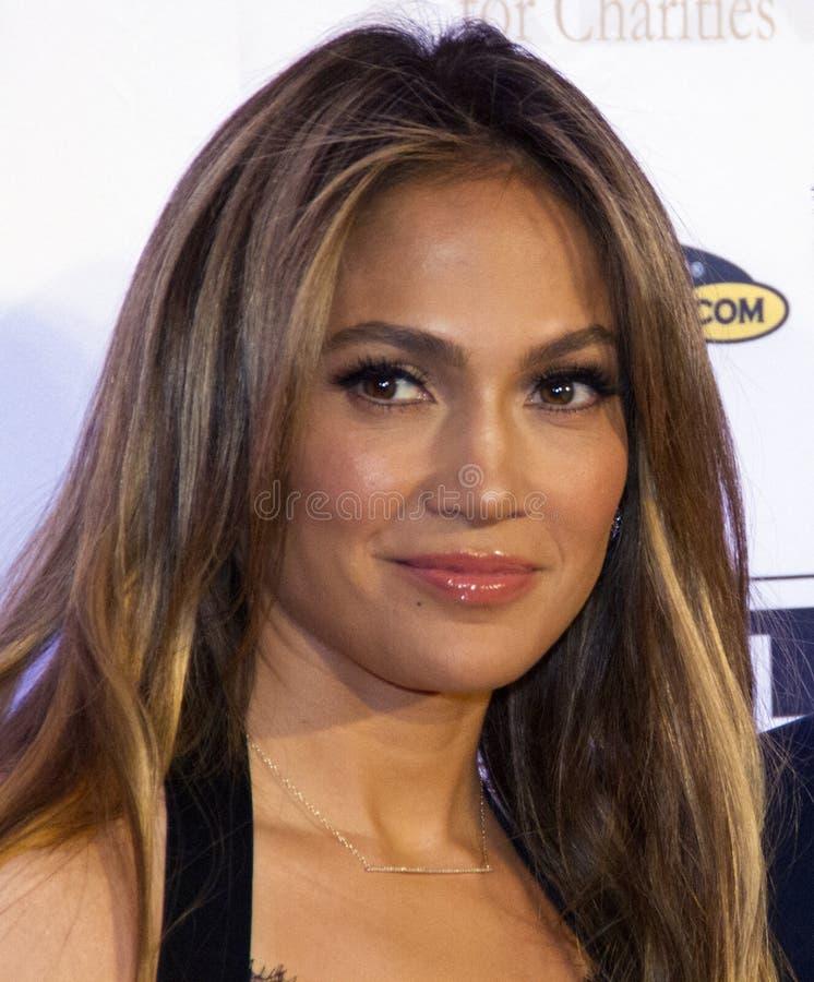Chanteur Jennifer Lopez d'acteur photographie stock libre de droits