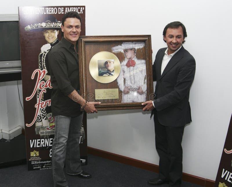 Chanteur Pedro Fernandez de MEXICO photographie stock libre de droits