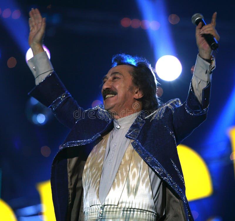 Chanteur russe Farukh Zakirov photographie stock