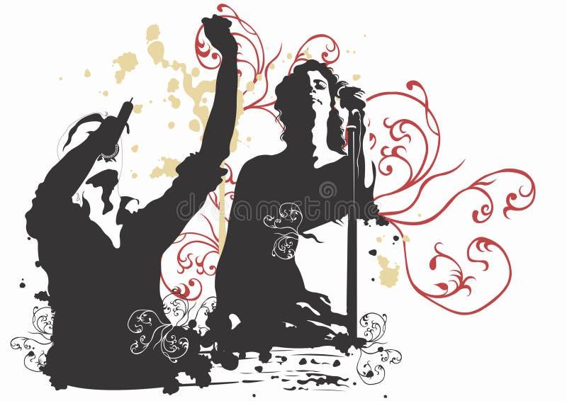 Chanteurs illustration de vecteur