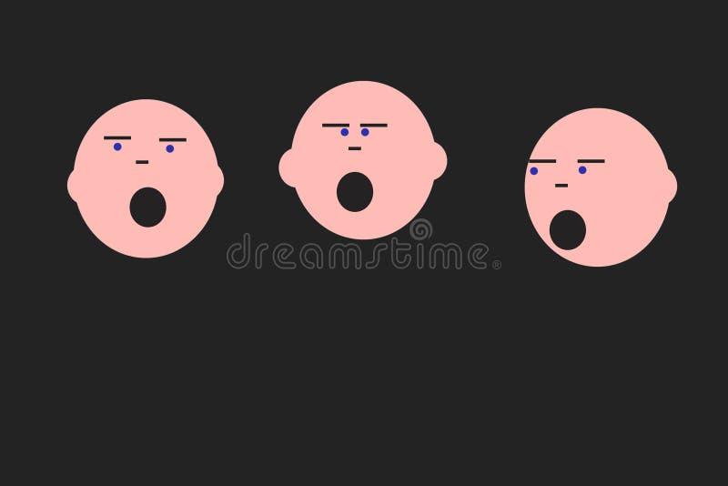 Chanteurs illustration stock