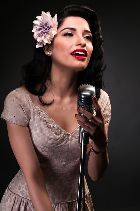 Chanteuse στοκ φωτογραφίες