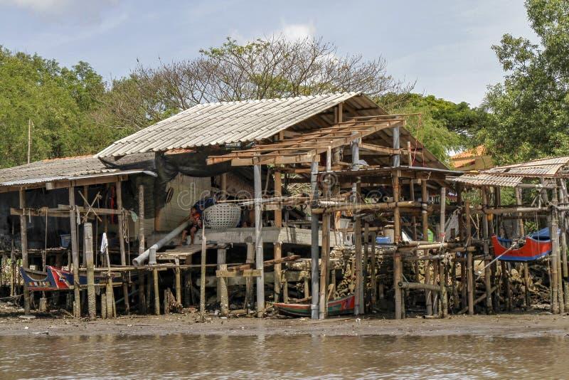Chanthaburi, 1,2019 Ταϊλάνδη-Ιουνίου: Το ψαροχώρι ονομάζει το χωριό Chanthaburi, Ταϊλάνδη κανένας-εδάφους στοκ εικόνα