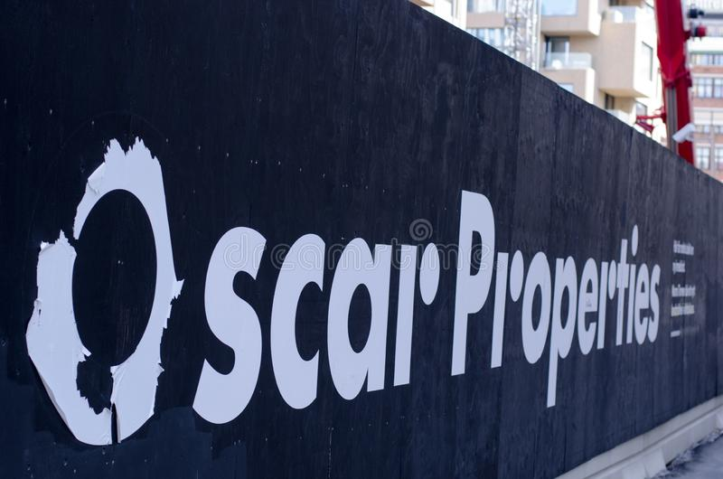 Chantier d'Oscar Properties photographie stock
