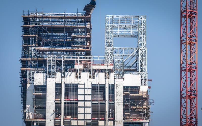 Chantier de construction à Dubaï photo libre de droits