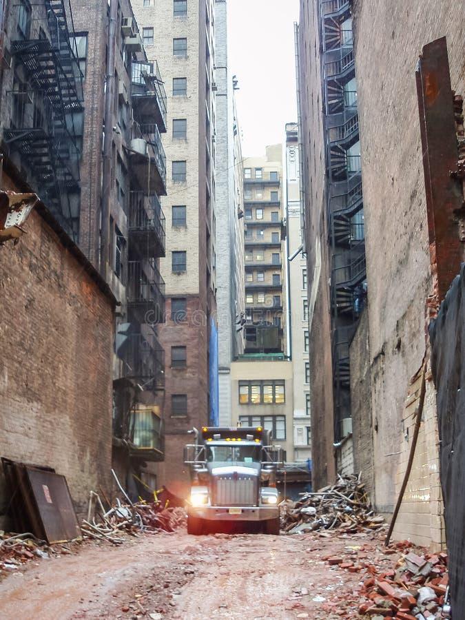 Chantier de construction à Manhattan photographie stock