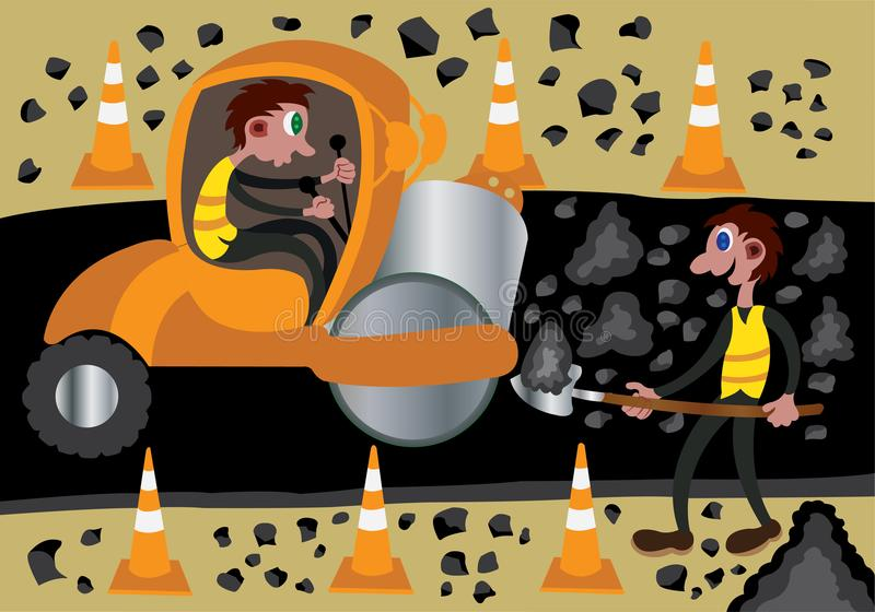 Chantier de construction 2 illustration de vecteur