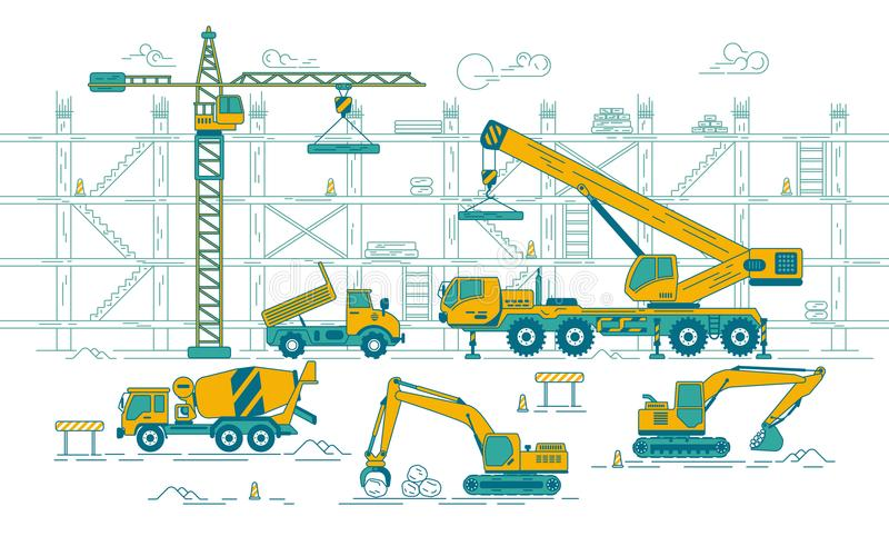 Chantier de construction illustration libre de droits