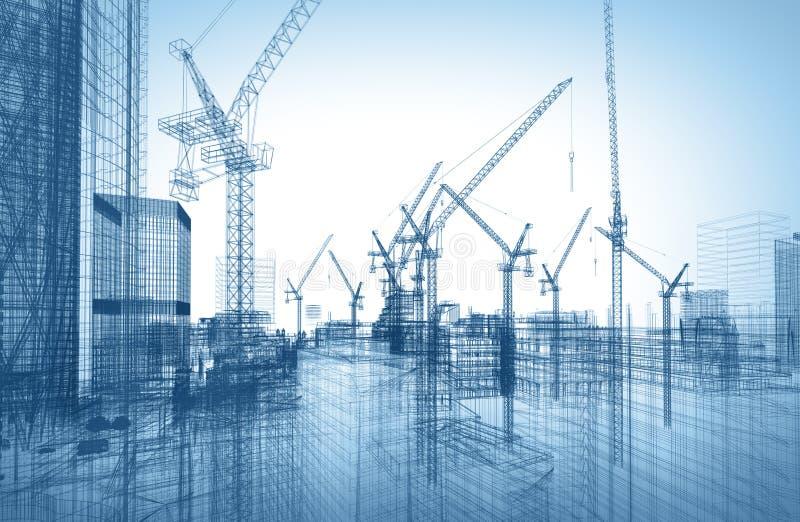 Chantier de construction illustration stock