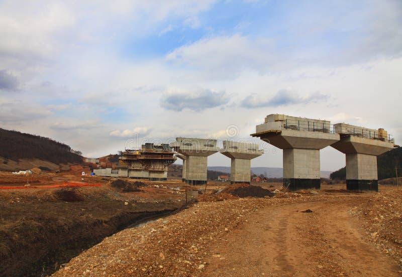 Chantier de construction d'omnibus images stock