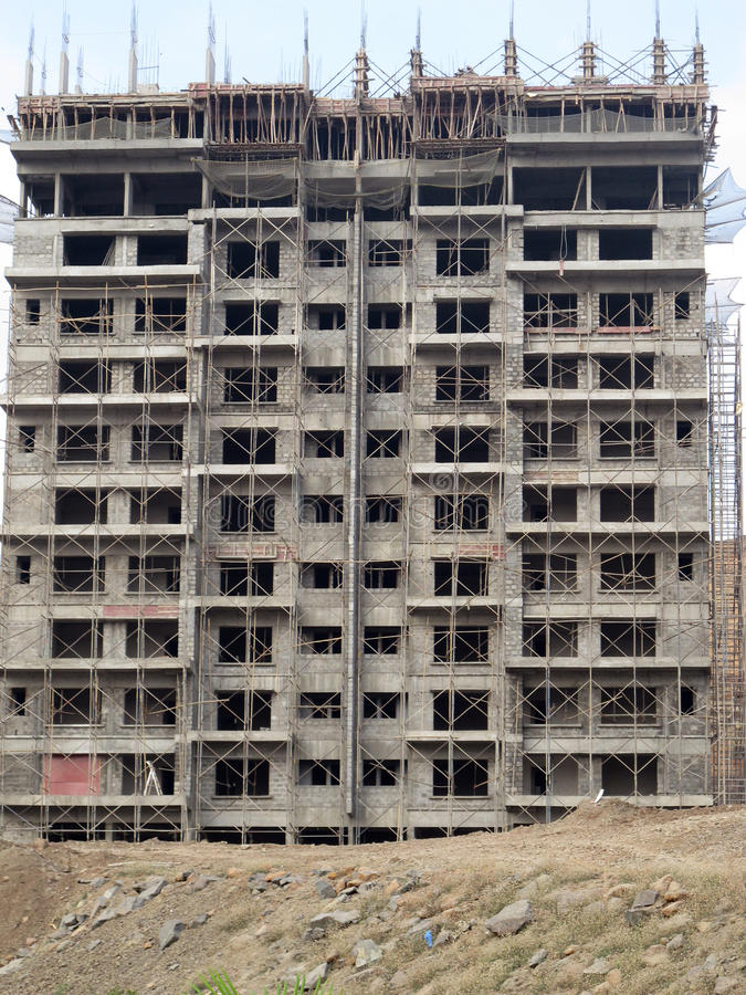 Chantier de construction dans Pune Inde images stock
