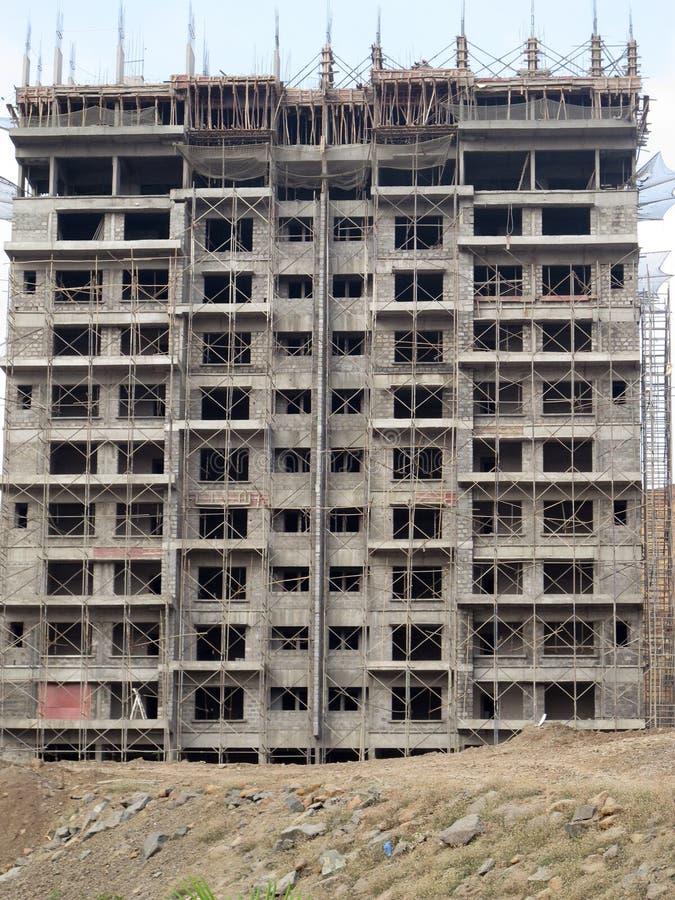 Chantier de construction dans Pune Inde images stock
