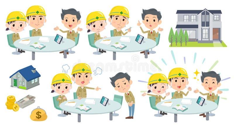 Chantier de construction de conférence de réunion worker_2 illustration libre de droits