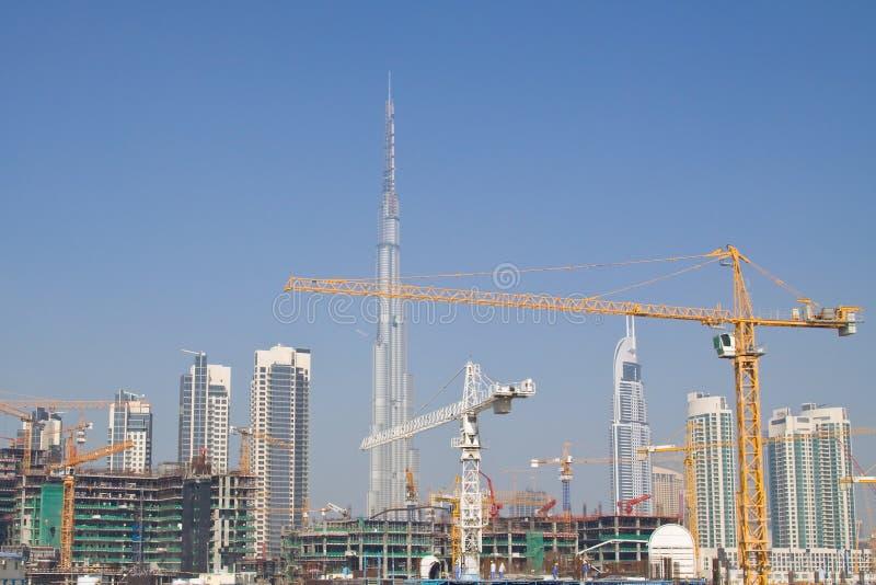 Chantier de construction de Dubaï image libre de droits