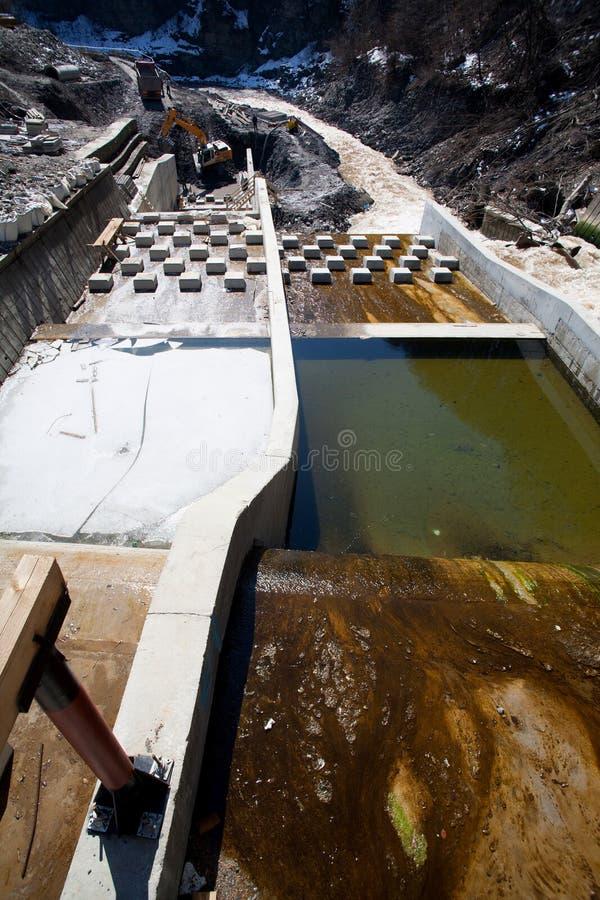 Chantier de construction de fleuve image stock