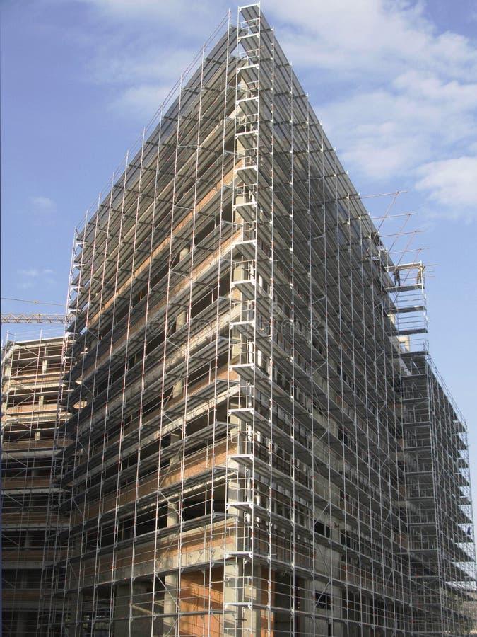 Chantier de construction de la construction moderne photos libres de droits