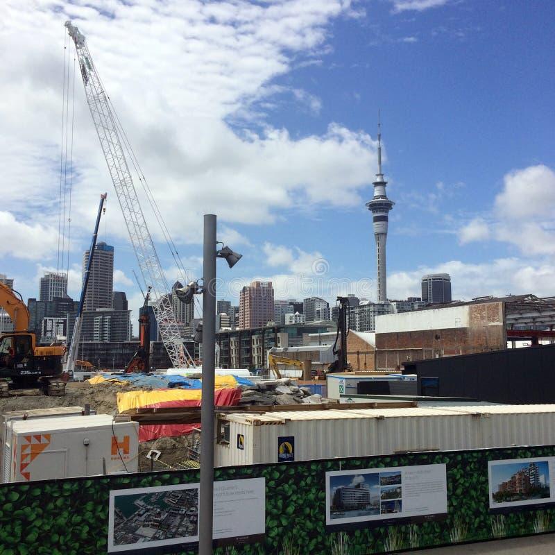 Chantier de construction de luxe d'appartements dans le bord de mer nouveau Z d'Auckland photo libre de droits