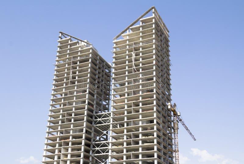 Chantier de construction de Skycrapers images stock