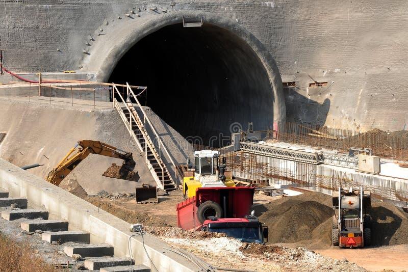 Chantier de construction de tunnel images libres de droits
