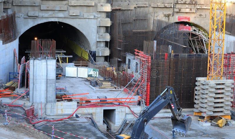 Chantier de construction de tunnel photographie stock libre de droits