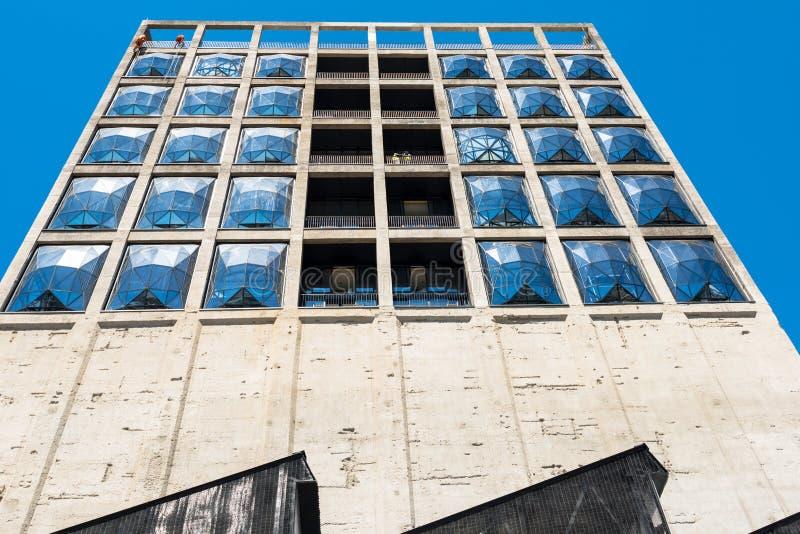 Chantier de construction du nouveau musée de Zeitz de l'art contemporain de l'Afrique à Cape Town image stock