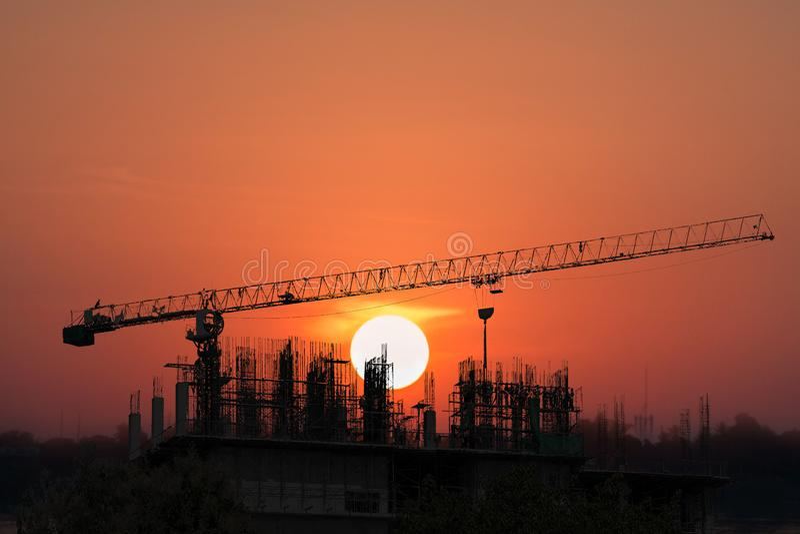 Chantier de construction E photographie stock
