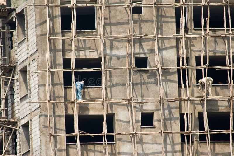 Chantier de construction en Ethiopie images stock