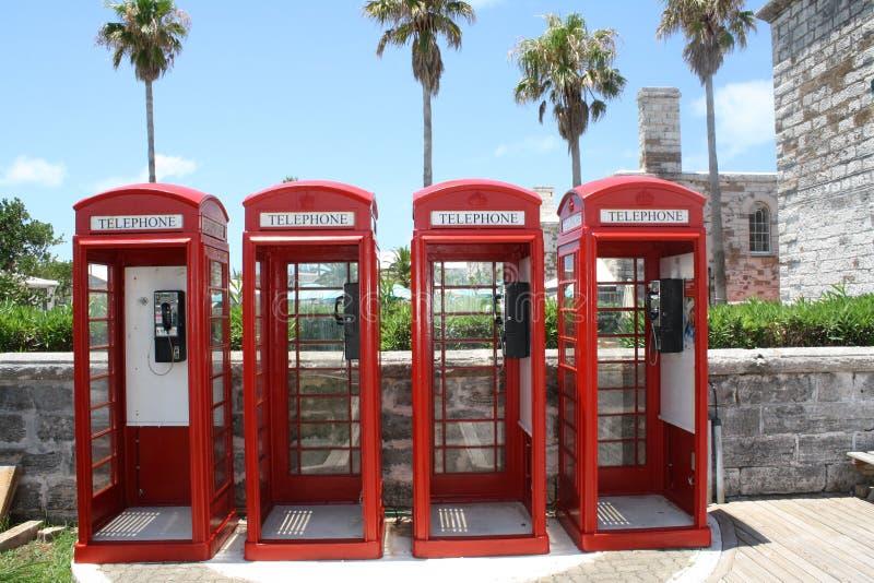 Chantier de construction navale naval Bermudes de cabines de téléphone photo libre de droits
