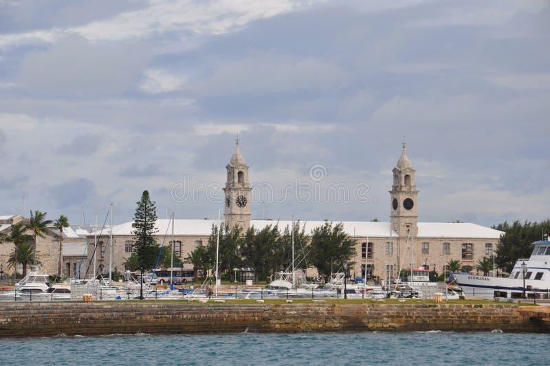 Chantier de construction navale royal de marine en Bermudes photographie stock libre de droits