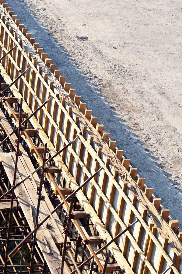 Chantier de construction de pont images libres de droits