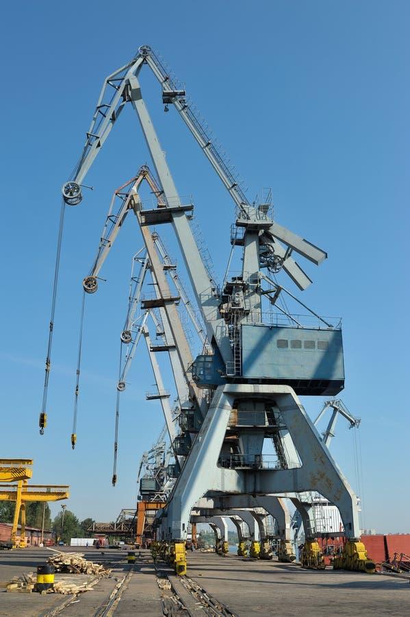 Chantier naval dans le galati, Roumanie photographie stock libre de droits
