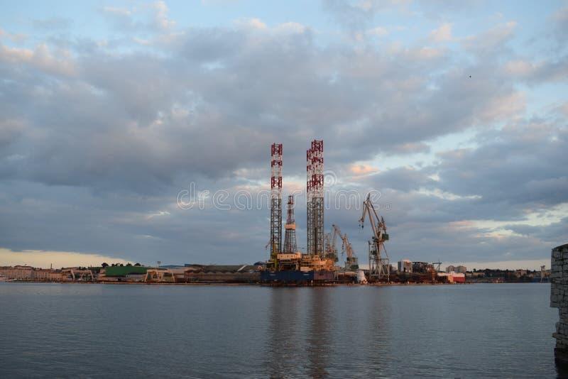 Chantier naval en Croatie photos libres de droits